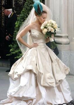 Η Carrie με Vivienne Westwood νυφικό