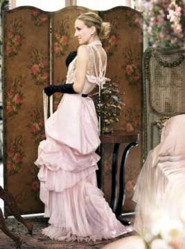 Η Carrie με Lacroix νυφικό