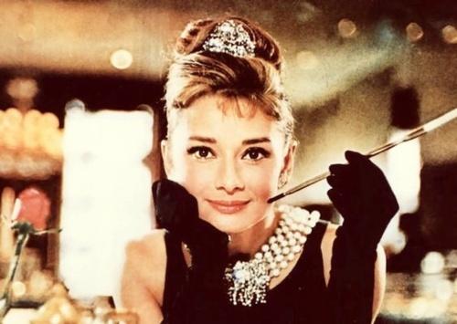 Audrey Hepburn in Breakfast at Tiffany's.