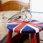 Σκαμνί-κομοδίνο με βρετανικό στυλ