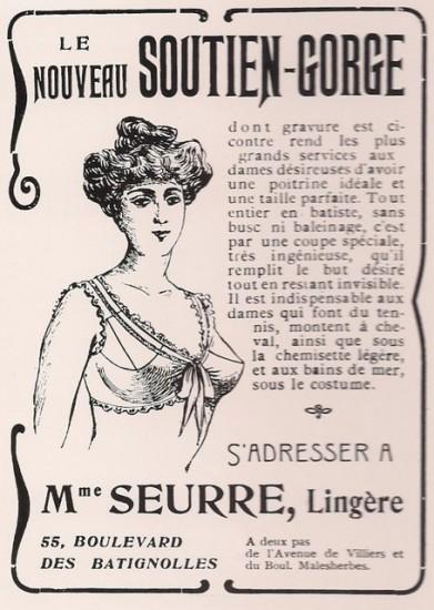 Η πρώιμη φάση των σουτιέν μέσα από διαφήμιση εποχής