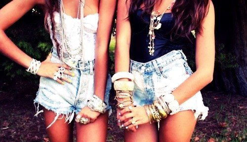 fashion studded high waisted denim shorts-f70532
