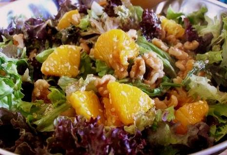 salad-oranges-honey