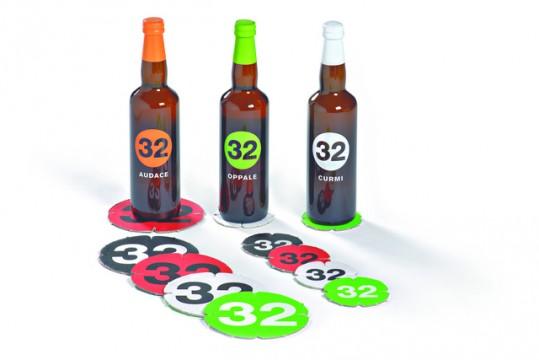 Bottles on coasters