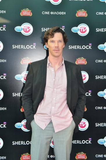 Ο Benedict Cumberbatch στην πρεμιέρα του Sherlock