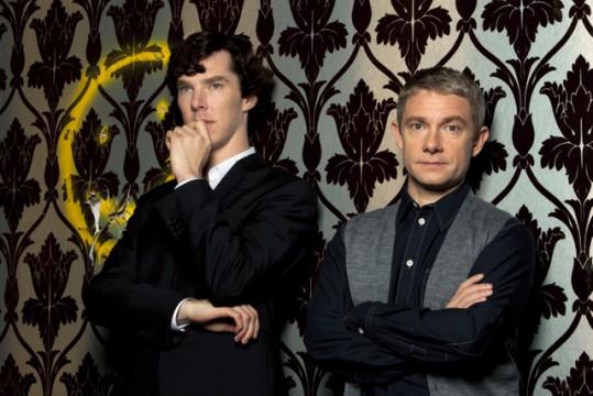 Ο Sherlock, Benedict Cumberbatch & Dr. Watson, Martin Freeman