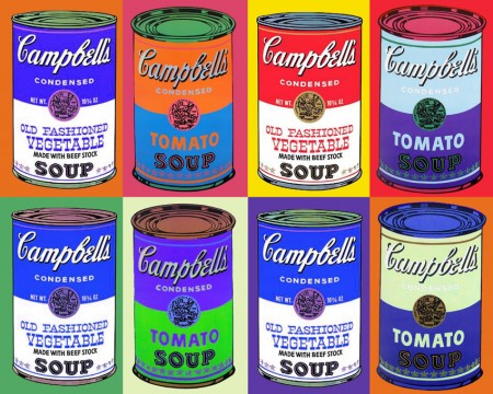 """Campbell's Soup Cans"" πίνακας του Άντι Γούορχολ (1962)"