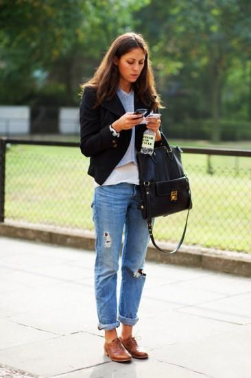 boyfriend jeans-flats