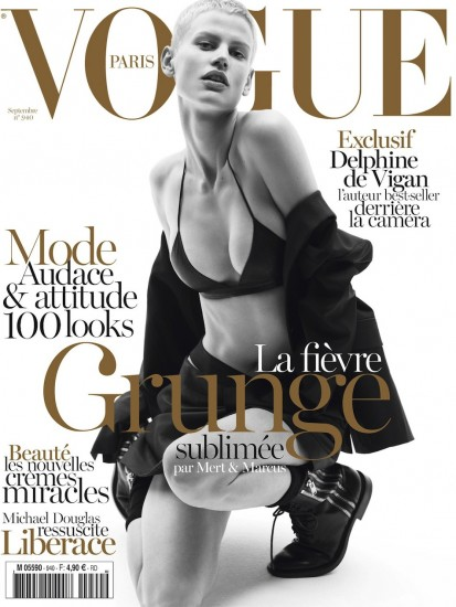 H Saskia Debrauw με grunge look στο εξώφυλλο της γαλλικής Vogue