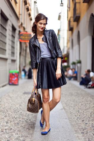 biker-jacket-leather-pleated-skirt
