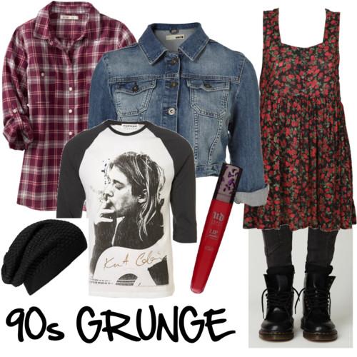 Grunge look (set via Polyvore)
