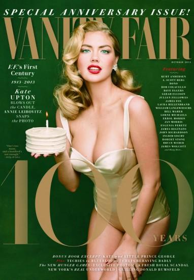 Η Kate Upton ποζάρει για το επετειακό τεύχος του Vanity Fair