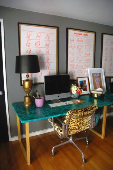 Γραφείο σε στυλ μαλαχίτη