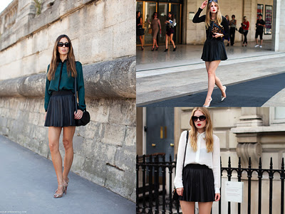 shirt-pleated-leather-skirt