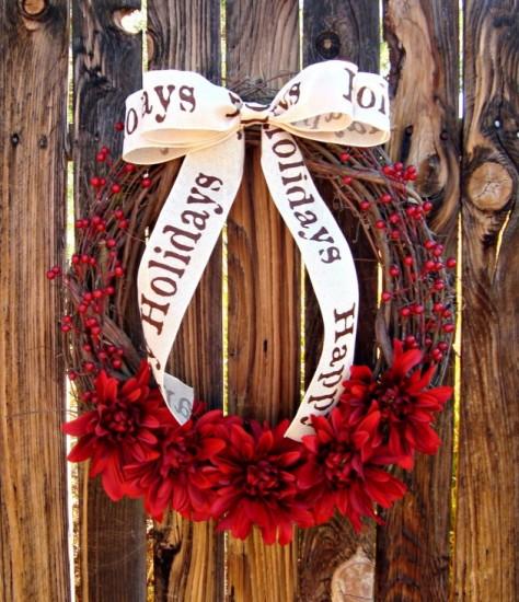 red-flower-berry-wreath