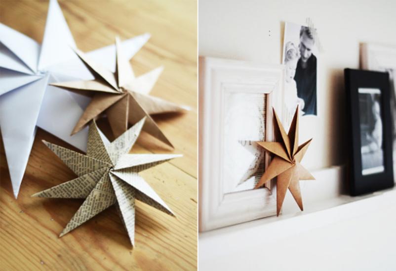 35677c6a779 Οι πιο εύκολες DIYκατασκευές αστεριών για χριστουγεννιάτικα στολίδια!