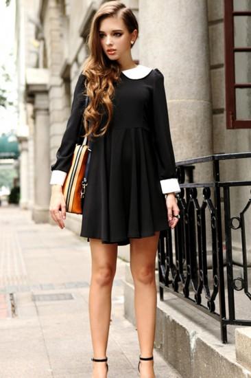 peter-pan-collar-dress-street-fashion