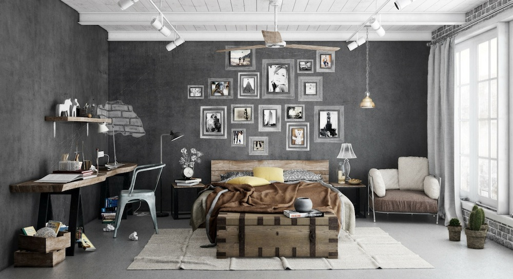 3-Industrial Bedrooms Interior Design