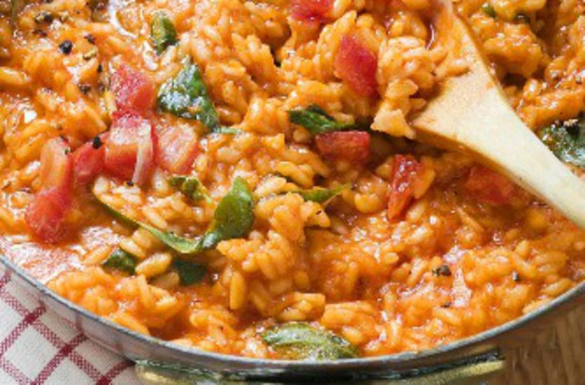Sundried-tomato-and-basil-risotto