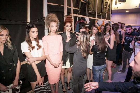 Πριν την έναρξη του Toni & Guy Fashion Show
