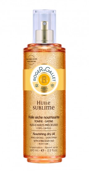 Huile Sublime-Roger & Gallet (29.50 € / 100 ml. 14.90 € / 30 ml.)