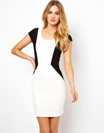 contrasting-panel-dress