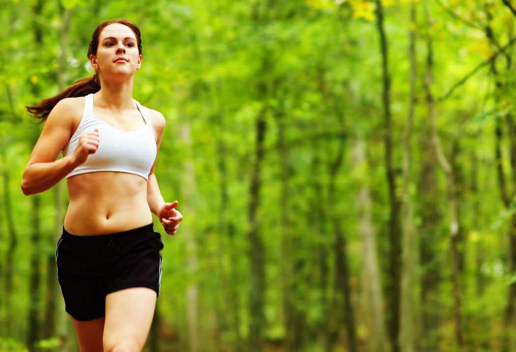 running-forest