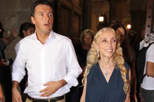 O Matteo Renzi με την αρχισυντάκτρια της Ιταλικής Vogue, Franca Sozzani