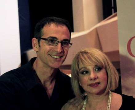 Ο Κώστας Κρομμύδας με την ηθοποιό & συγγραφέα, Άννα Ανδριανού
