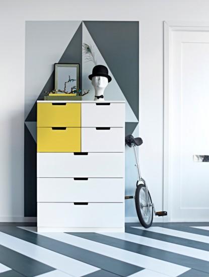 NORDLI συρταριέρα με 7 συρτάρια 199€ Μπορείτε εύκολα να δημιουργήσετε το δικό σας σχέδιο χρησιμοποιώντας διαφορετικά χρώματα.