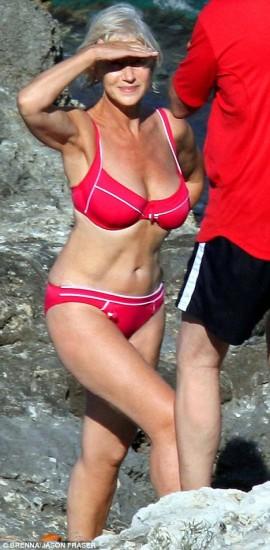 Η Helen Mirren στην Ιταλία το 2008