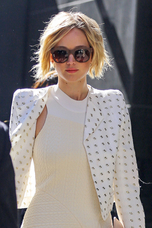 Jennifer Lawrence spotted leaving the 'Good Morning America' studios in New York City