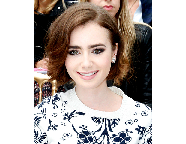 Lilly Collins @ Chanel show