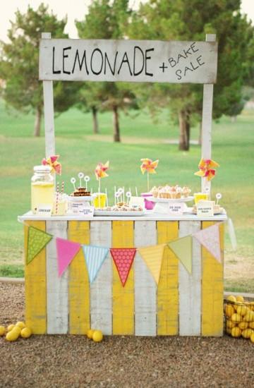 1. lemonade kiosk