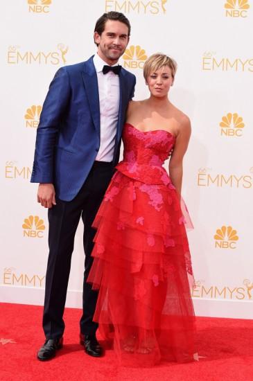 Kaley Cuoco με τον σύζυγο της, Ryan Sweeting-Emmys 2014