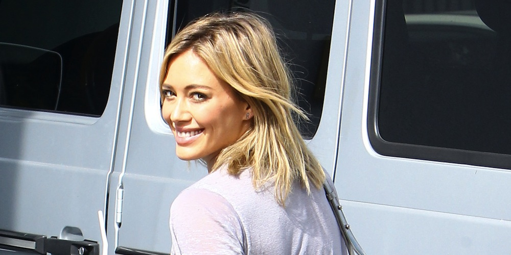 Hilary Duff Gets Her Workout In
