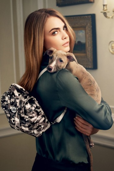 Camouflage backpack-Mulberry Cara Delevingne Collection