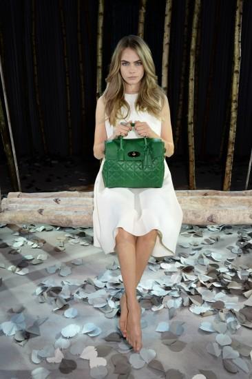 Cara Delevingne Green bag
