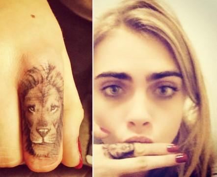 Το lion tattoo της Cara Delevingne