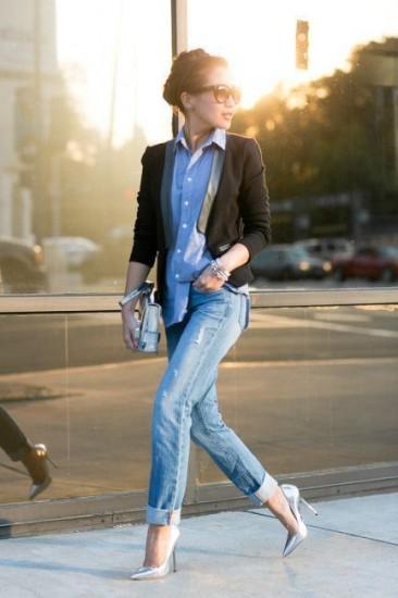denim-shirt-chic-look
