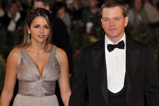 O Matt Damon με τη σύζυγο του Luciana