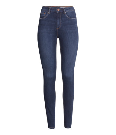 Skinny ψηλόμεσο τζιν παντελόνι από τη συλλογή H&M Conscious Denim