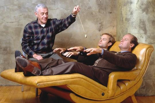 O Martin Crane με τους γιους του Dr.Frasier & Niles
