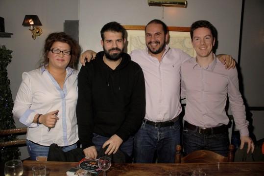 H Mαριάννα Ζαρμπαλά, ο Θωμάς Δούζης, ο Τάσος Αντωνίου και ο Λευτέρης Κανδύλης στο πάνελ.
