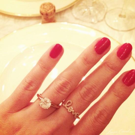 ... O συνδυασμός δαχτυλιδιού αρραβώνων-midi ring της Lauren Conrad b426b2e6727