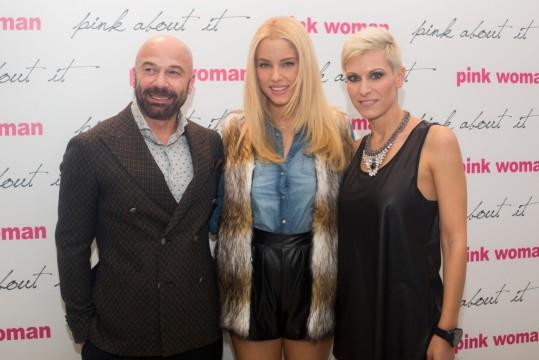 Νίκος Κασιμάτης - Πρόεδρος και Διευθύνων Σύμβουλος της Pink Woman, Δούκισσα Νομικού, Λίλη Ευθυμίου - Trade Marketing Manager της Pink Woman