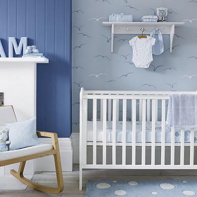 ιδέες-τοίχου-για-Παιδικά-Δωμάτια-μπλέ-πουλιά