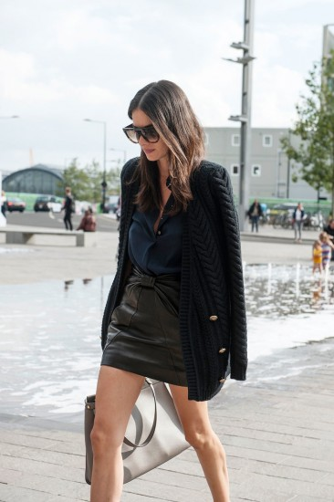 Keep-leather-skirt-easy-chic-uncomplicated-knitted-jacket