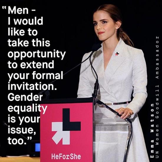 Η πλέον ιστορική ομιλία της Emma Watson στο πλαίσιο της εκστρατείας