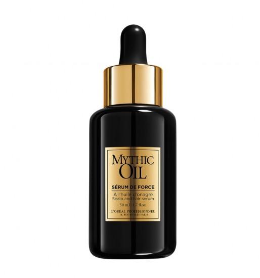 Mythic Oil Serum de Force Το serum de force είναι ένας ορός που προστατεύει την τρίχα, μειώνοντας το σπάσιμο της κατά 93%.Επιπλέον, ενδυναμώνει τα μαλλιά από τις ρίζα ως τις άκρες, χαρίζοντάς τους λάμψη και απαλότητα στο άγγιγμα. Eντατική ενδυνάμωση της τρίχας μετά από 1 μήνα χρήσης και επειδή πρόκειται για Mythic oil προϊόν: μοναδικό άρωμα!